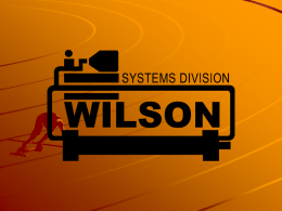 Cooling System - Wilson Company