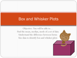 Box and Whisker Plots - Siegel Middle School