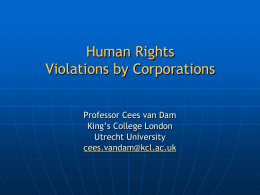 Human Rights and Corporate Liability
