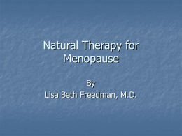 Female Hormone Replacement Therapy