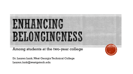 Enhancing Belongingness - Piedmont Technical College