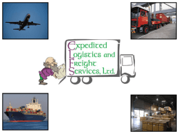 Expedited Logistics and Freight Services, Inc. - ELFS