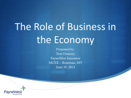 The Role of Business in the Economy