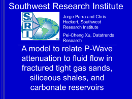 A model to relate P-Wave attenuation to fluid flow in