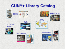 New Look for CUNY+ Catalog