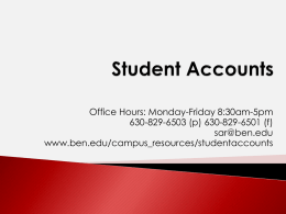 Student Accounts - Benedictine University