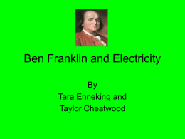 Ben Franklin and Electricity