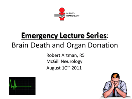 Emergency Lecture Series: Introduction to Brain Death and