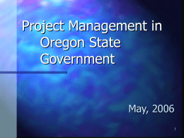 Project Management in Oregon State Government