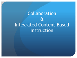 Integrated Content-Based Instruction
