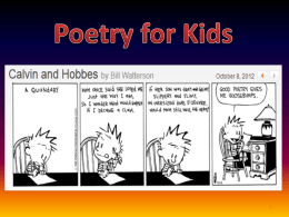For kids - Songs and Poetry for ESL