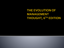 The Evolution of Management Thought, 6th ed