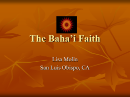 The Baha'i Faith - Cal Poly CLA