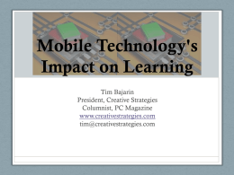 Mobile Technology's Impact on Learning