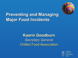 CFA Preventing and Managing Incidents