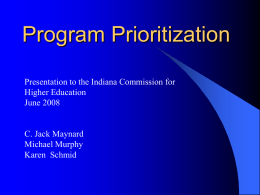 The Story of Our Program Prioritization Process
