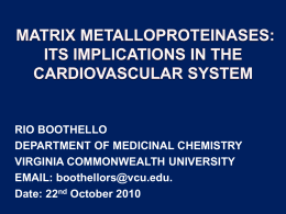 MATRIX METALLOPROTEINASES: ITS IMPLICATIONS ON THE