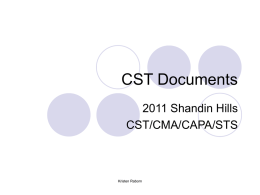 CST Documents