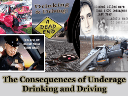 The Consequences of Underage Drinking and Driving