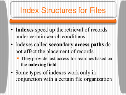 Index Structures for Files