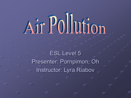Air Pollution - Southern New Hampshire University