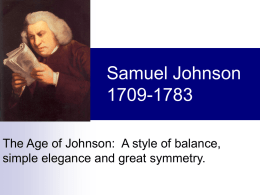 Samuel Johnson - WordPress.com