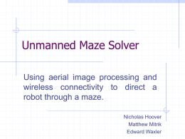 Unmanned Maze Solver - RIT - Department of Computer
