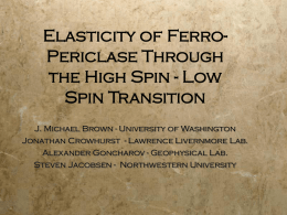 Elasticity of Ferro-Periclase Through the High Spin