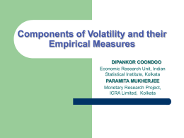 Components of Volatility and their Empirical Measures: A Note