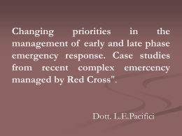 Changing priorities in the management of early and late