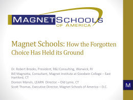 Staff Presentations - Home | Magnet Schools of America