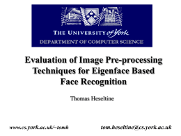 Evaluation of Image Pre-processing Techniques for