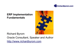 ERP Implementation Fundamentals