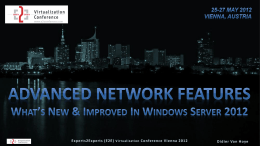 Advanced Network Features - E2EVC Virtualization Conference