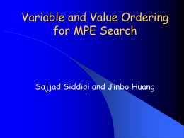 Variable and Value Ordering for MPE Search