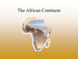 The African Continent - Hinsdale Township High School
