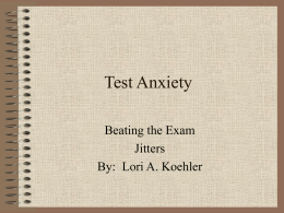 Test Anxiety - Welcome to DeSales University