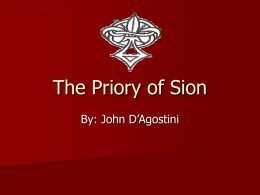 The Priory of Sion - Middlebury College