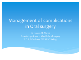 Management of complications in Oral surgery