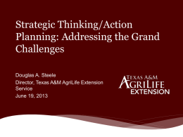 Texas A&M AgriLife Extension Service – Strategically