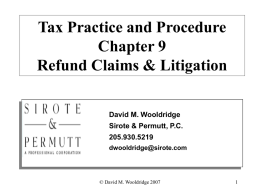 Tax Practice and Procedure Unit X Interest