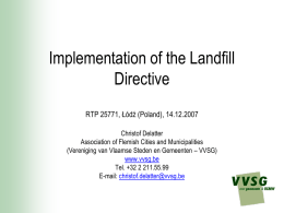 Municipal Solid Waste Management in Flanders
