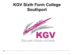 Joining up systems KGV Sixth Form College