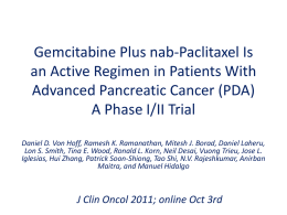 Gemcitabine Plus nab-Paclitaxel Is an Active Regimen in