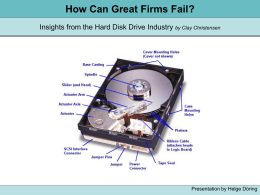 How Can Great Firms Fail? Insights from the Hard Disk