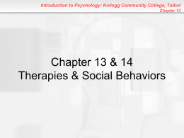 Chapter 13: Therapies - Kellogg Community College