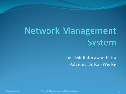 Network Management System and The Application in WiMAX