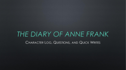 The Diary Of Anne Frank - English Language Arts with Mr