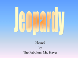 Jeopardy Chapter 5