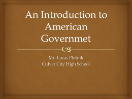 An Introduction to American Governmet